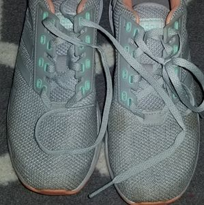 Adidas Sneakers size 5.5. Grey pink teal
